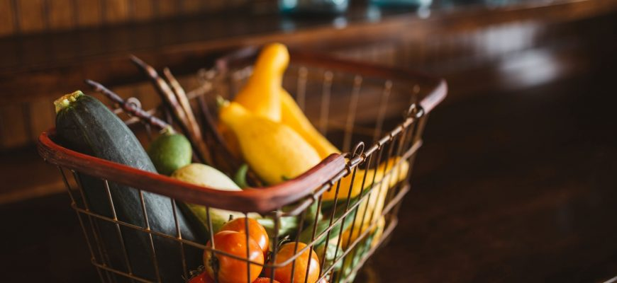 еда овощи фрукты корзина
