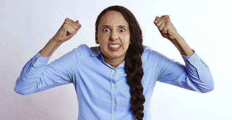злость, ярость, агрессия, женщина, крик