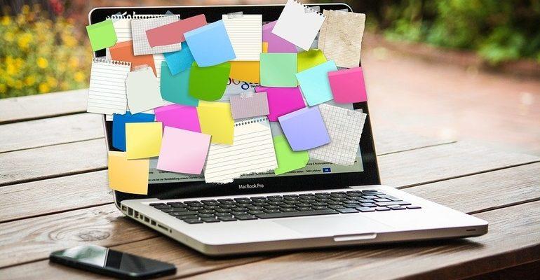 работа бизнес комп ноутбук стикер