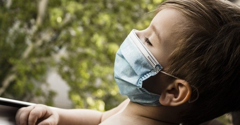 ребенок дети маска