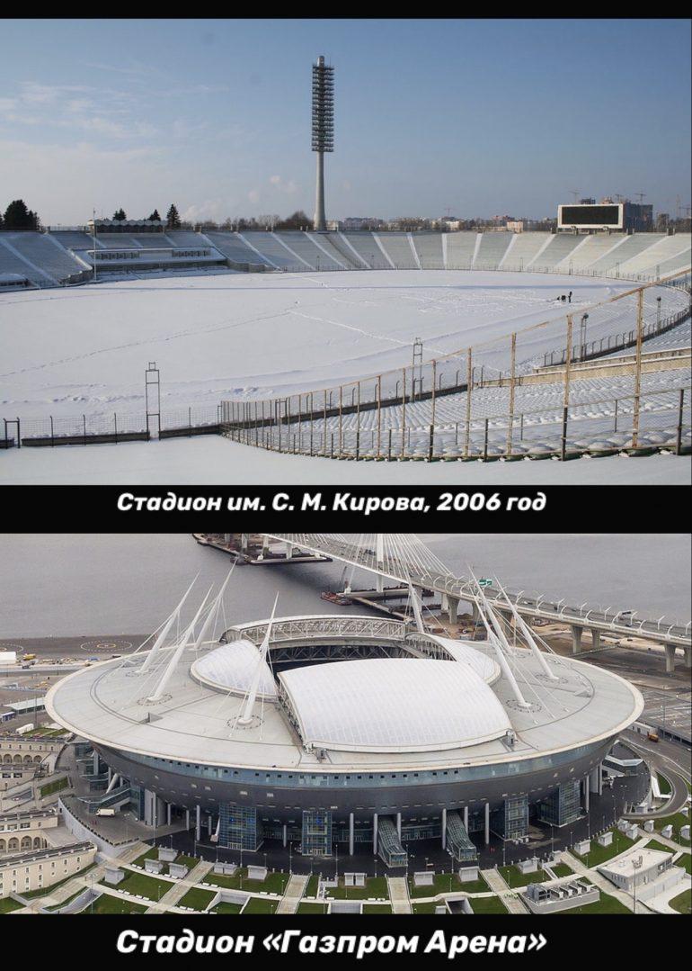 газпром арена, стадион кирова