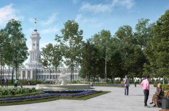 Проектное решение парка Северного речного вокзала