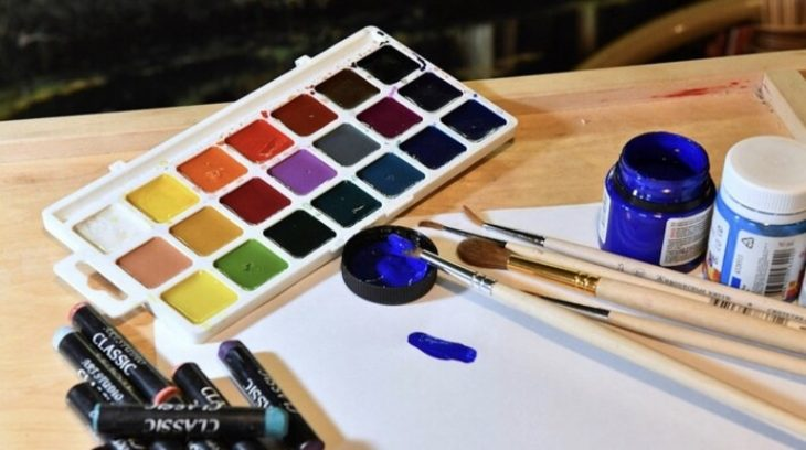 искусство рисование акварель краски развлечения школа