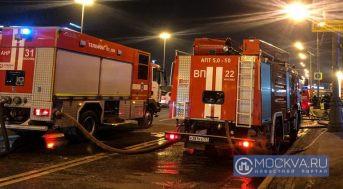 Один человек пострадал при пожаре в многоэтажном доме в Рублево