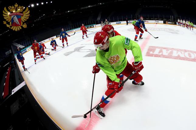 Тренировка сборной России по хоккею. Фото: официальный сайт сборной