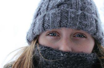 девушка холод мороз шапка зима