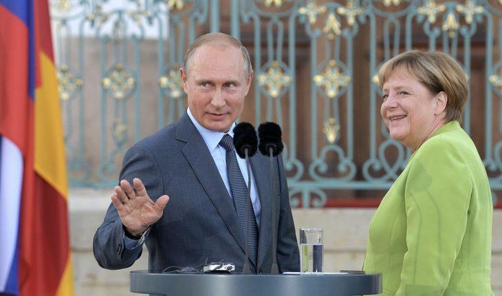 Путин Меркель
