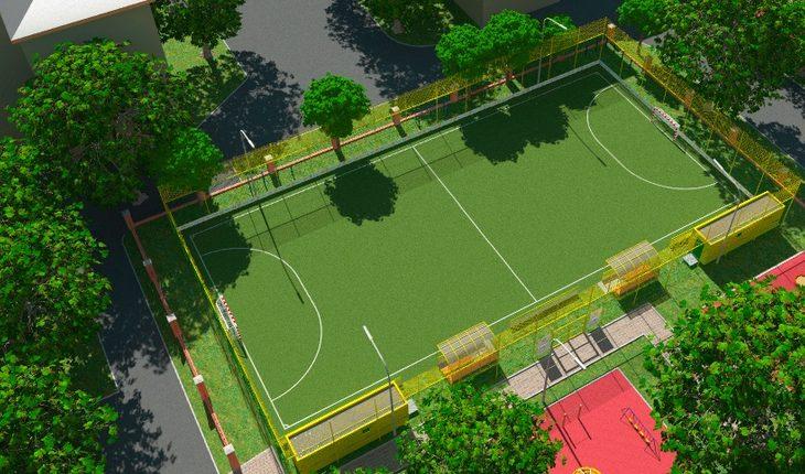 Инклюзивная спортивная площадка Фото: сайт префектуры ВАО
